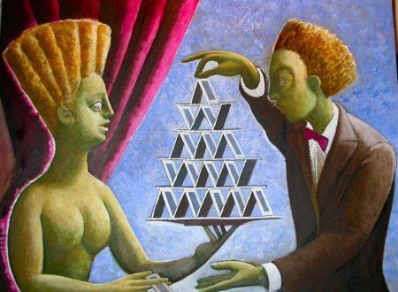 E' incredibile come la vita possa essere rappresentata da un castello di carte: siamo in bilico su equilibri fragili basta un niente e ci sfaldiamo©
