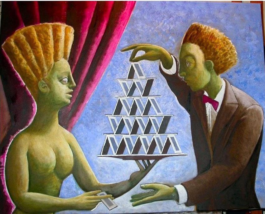 dipinto di Vito Giarrizzo  cm. 120x100